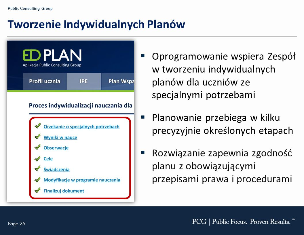 Tworzenie Indywidualnych Planów