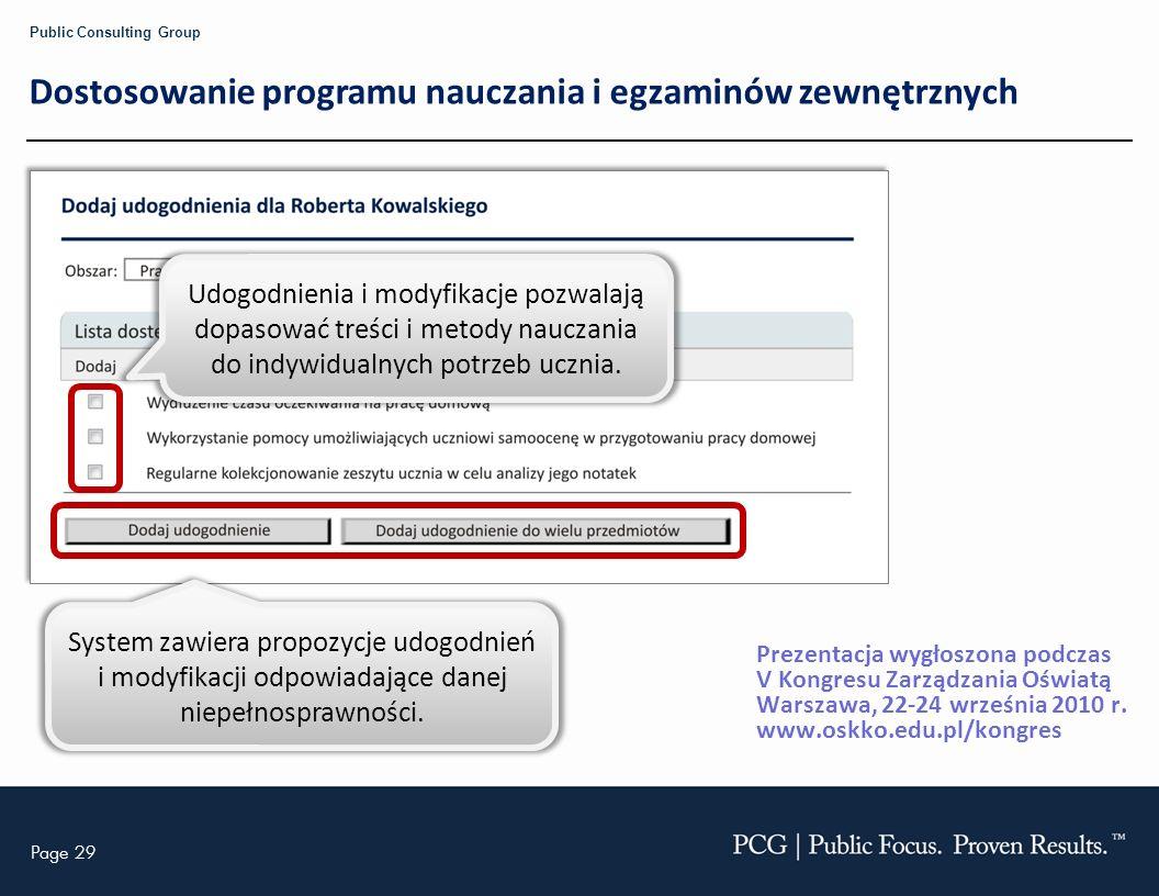 Dostosowanie programu nauczania i egzaminów zewnętrznych