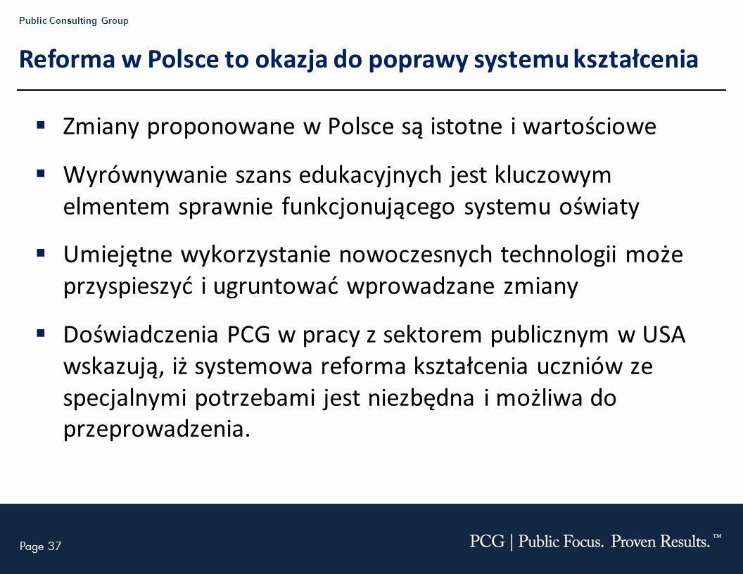 Reforma w Polsce to okazja do poprawy systemu kształcenia