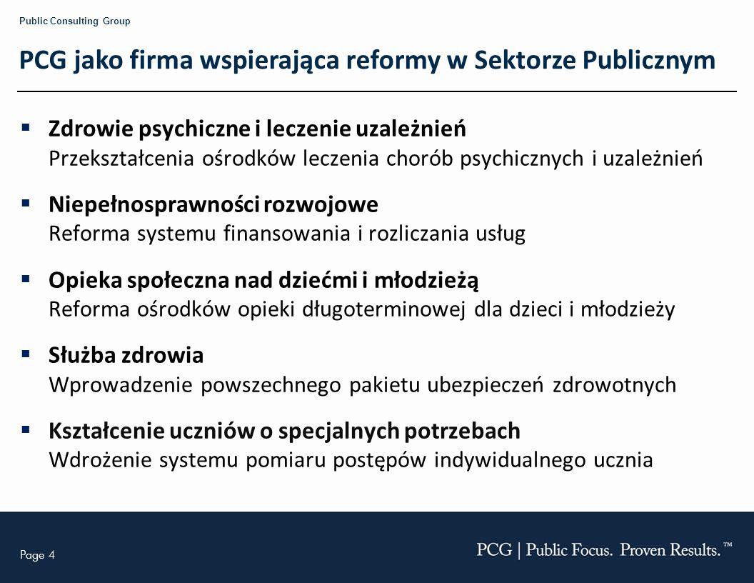 PCG jako firma wspierająca reformy w Sektorze Publicznym