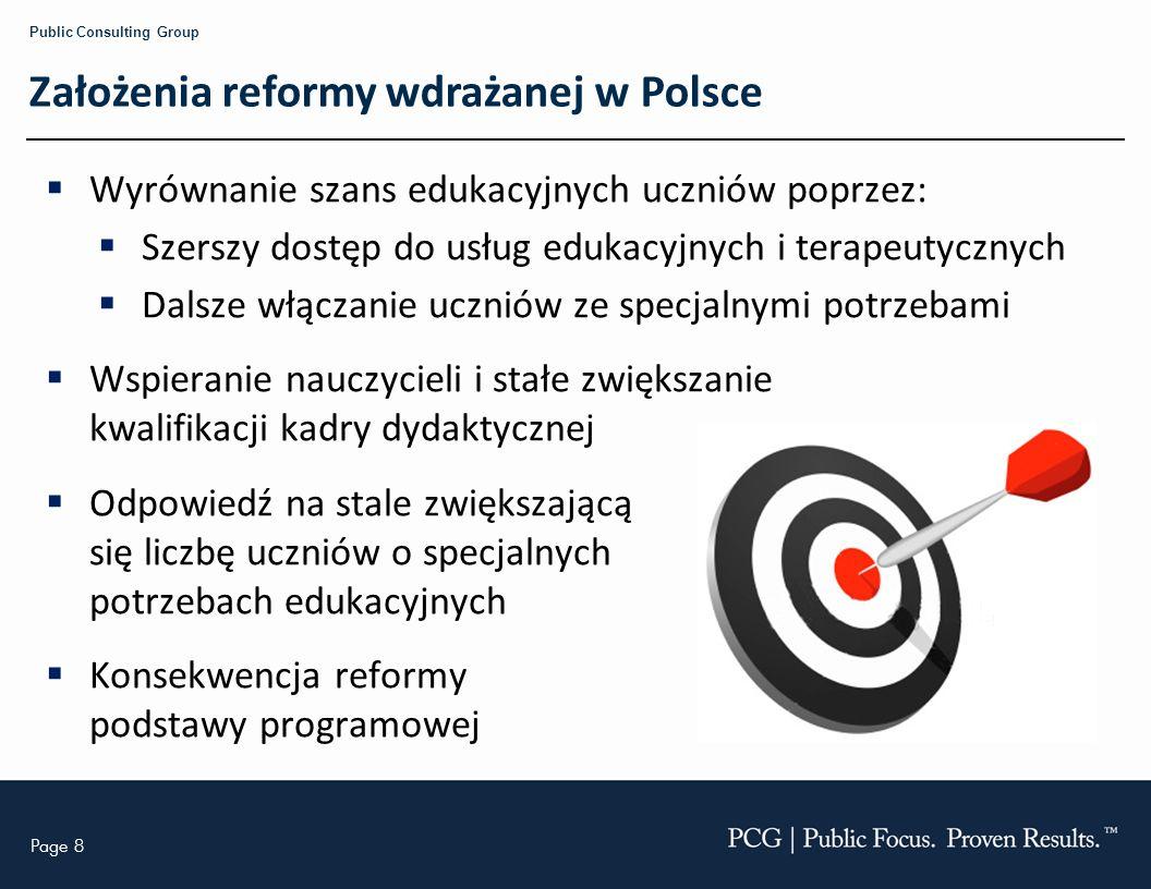 Założenia reformy wdrażanej w Polsce
