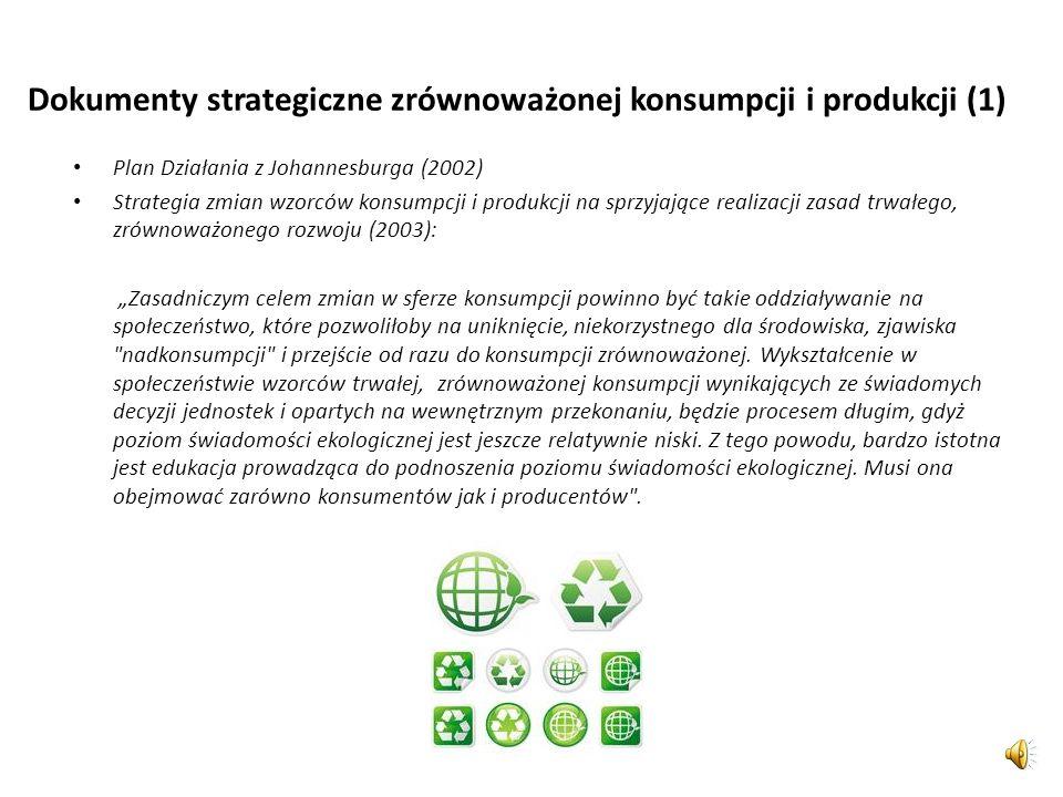 Dokumenty strategiczne zrównoważonej konsumpcji i produkcji (1)