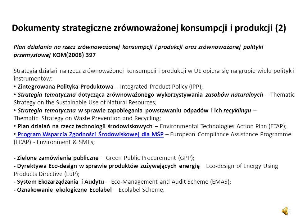 Dokumenty strategiczne zrównoważonej konsumpcji i produkcji (2)