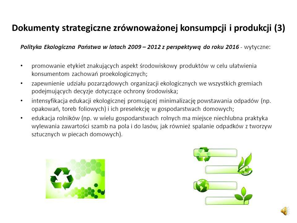 Dokumenty strategiczne zrównoważonej konsumpcji i produkcji (3)