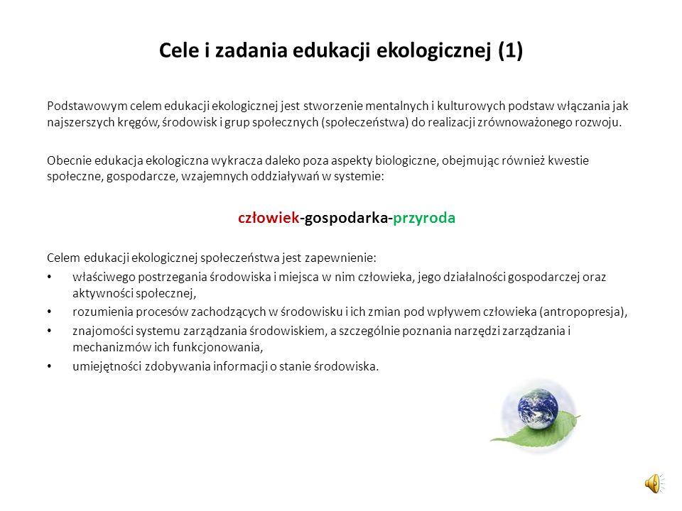 Cele i zadania edukacji ekologicznej (1)