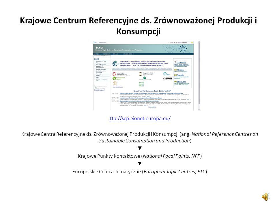 Krajowe Centrum Referencyjne ds. Zrównoważonej Produkcji i Konsumpcji