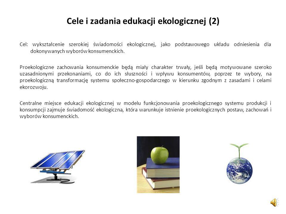 Cele i zadania edukacji ekologicznej (2)
