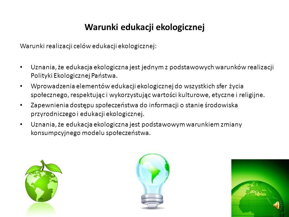 Warunki edukacji ekologicznej