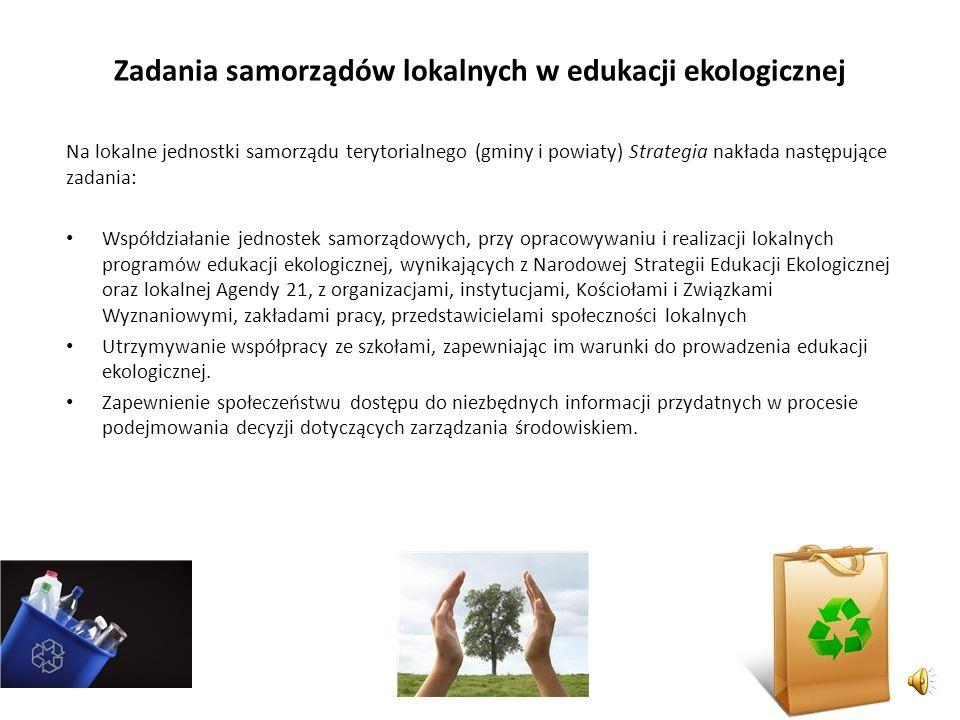 Zadania samorządów lokalnych w edukacji ekologicznej