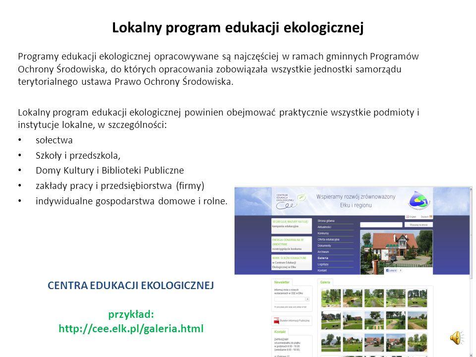 Lokalny program edukacji ekologicznej