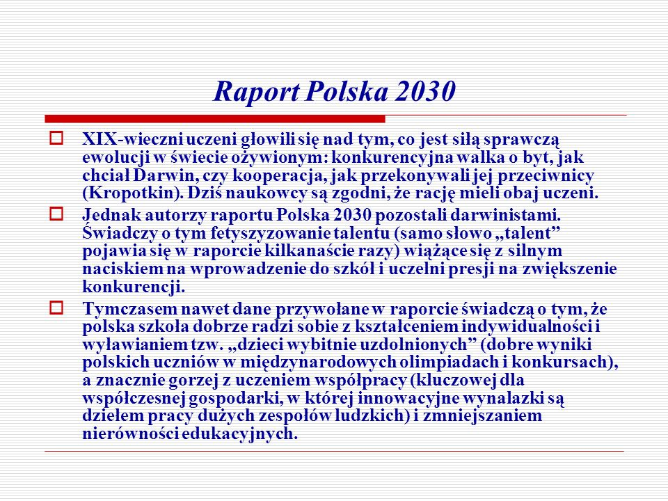 Raport Polska 2030