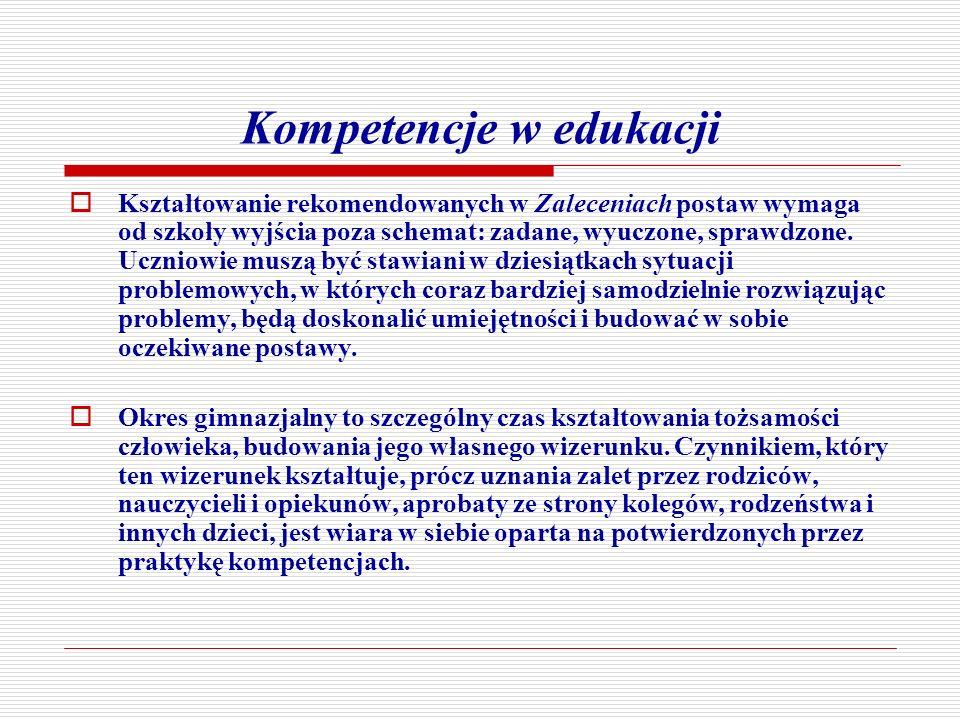 Kompetencje w edukacji