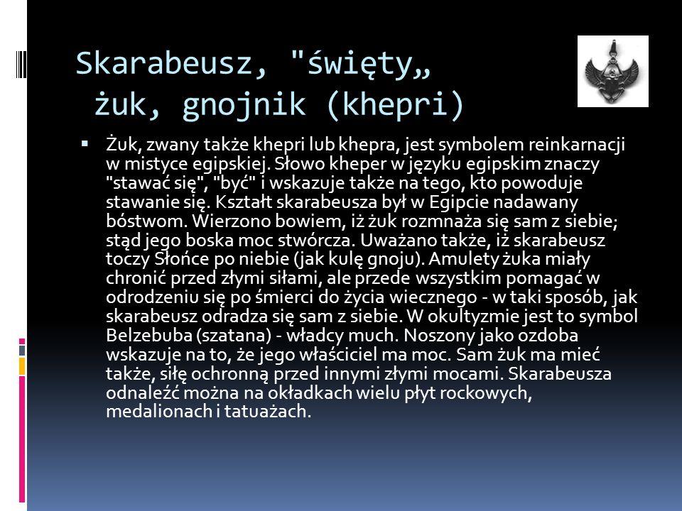 """Skarabeusz, święty"""" żuk, gnojnik (khepri)"""