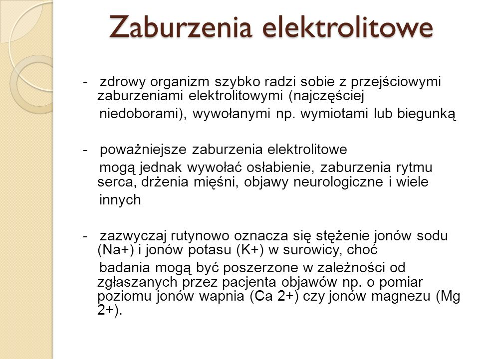 Zaburzenia elektrolitowe