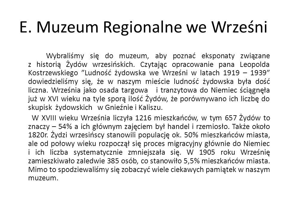 E. Muzeum Regionalne we Wrześni
