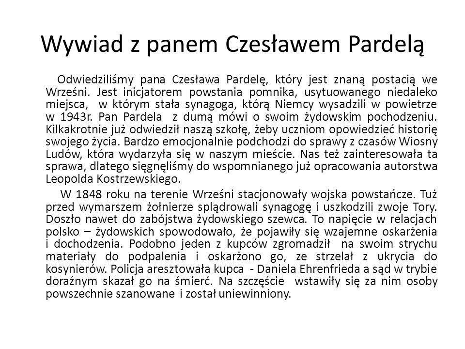 Wywiad z panem Czesławem Pardelą