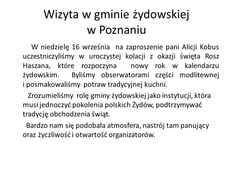 Wizyta w gminie żydowskiej w Poznaniu