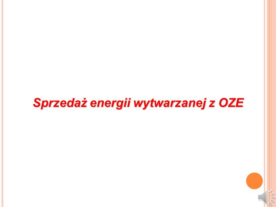 Sprzedaż energii wytwarzanej z OZE