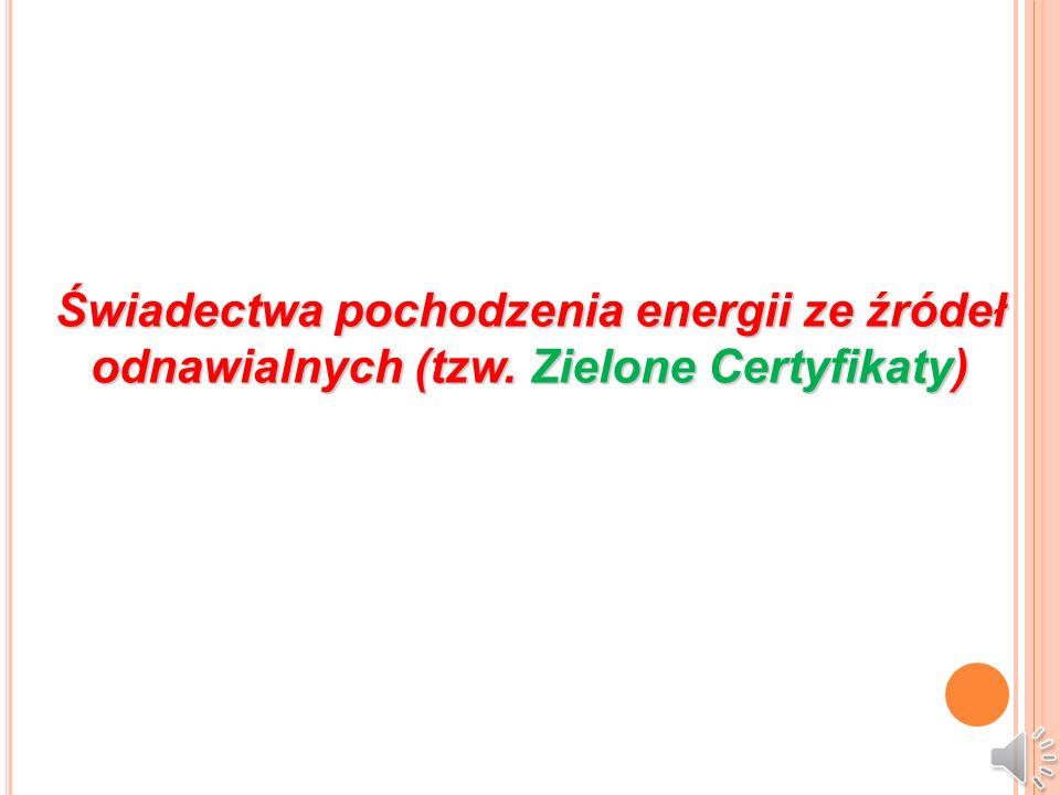 Świadectwa pochodzenia energii ze źródeł odnawialnych (tzw