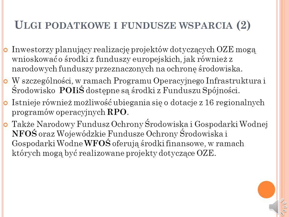 Ulgi podatkowe i fundusze wsparcia (2)