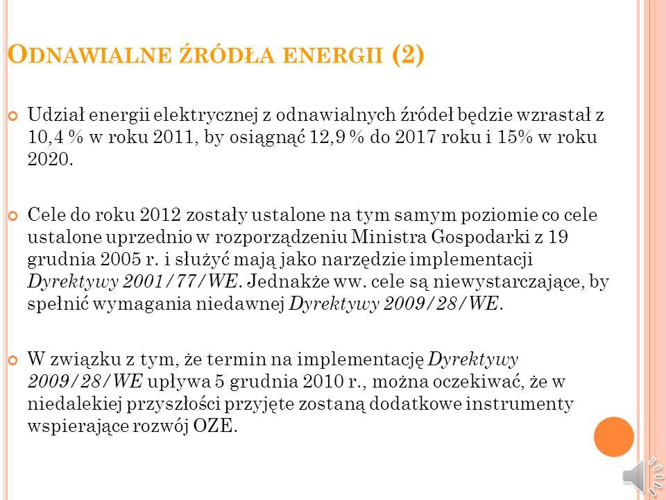 Odnawialne źródła energii (2)