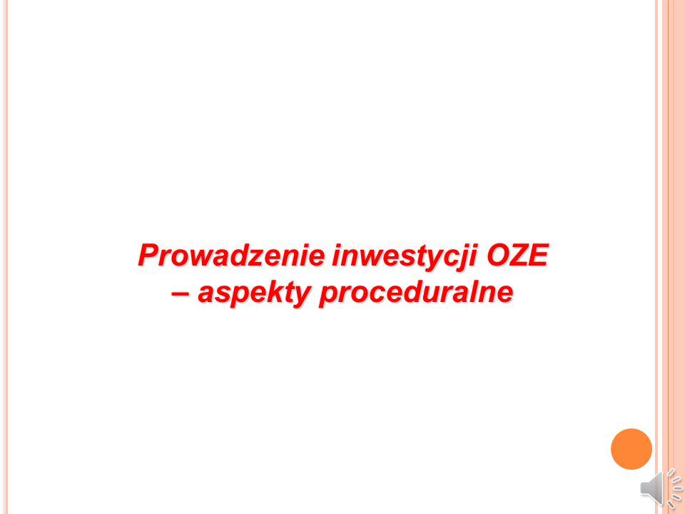 Prowadzenie inwestycji OZE – aspekty proceduralne
