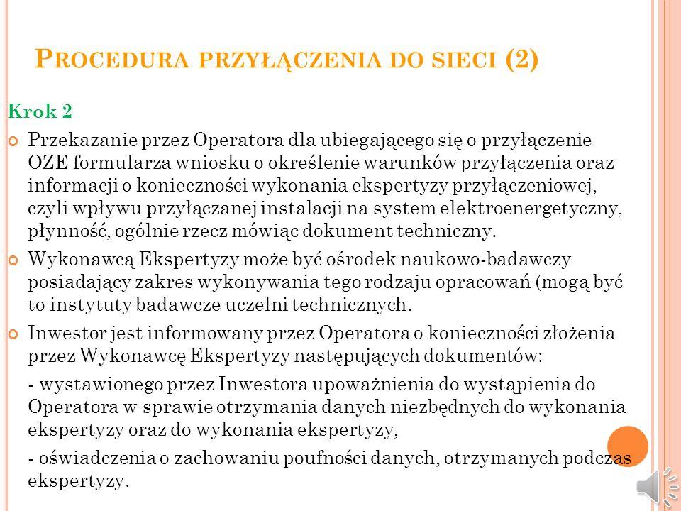 Procedura przyłączenia do sieci (2)