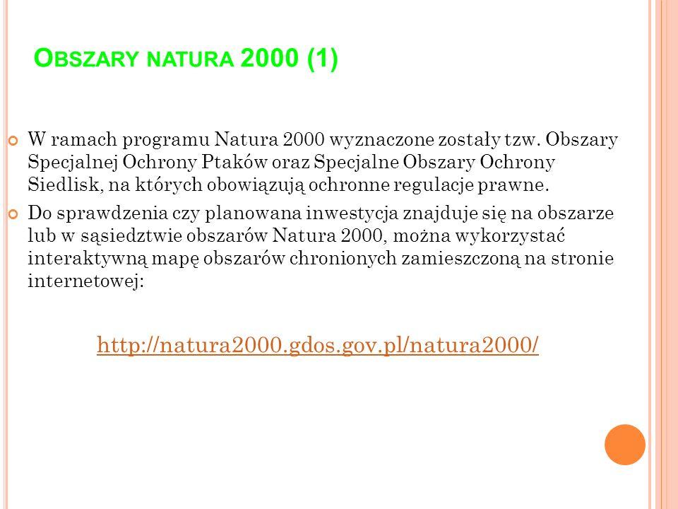 Obszary natura 2000 (1) http://natura2000.gdos.gov.pl/natura2000/