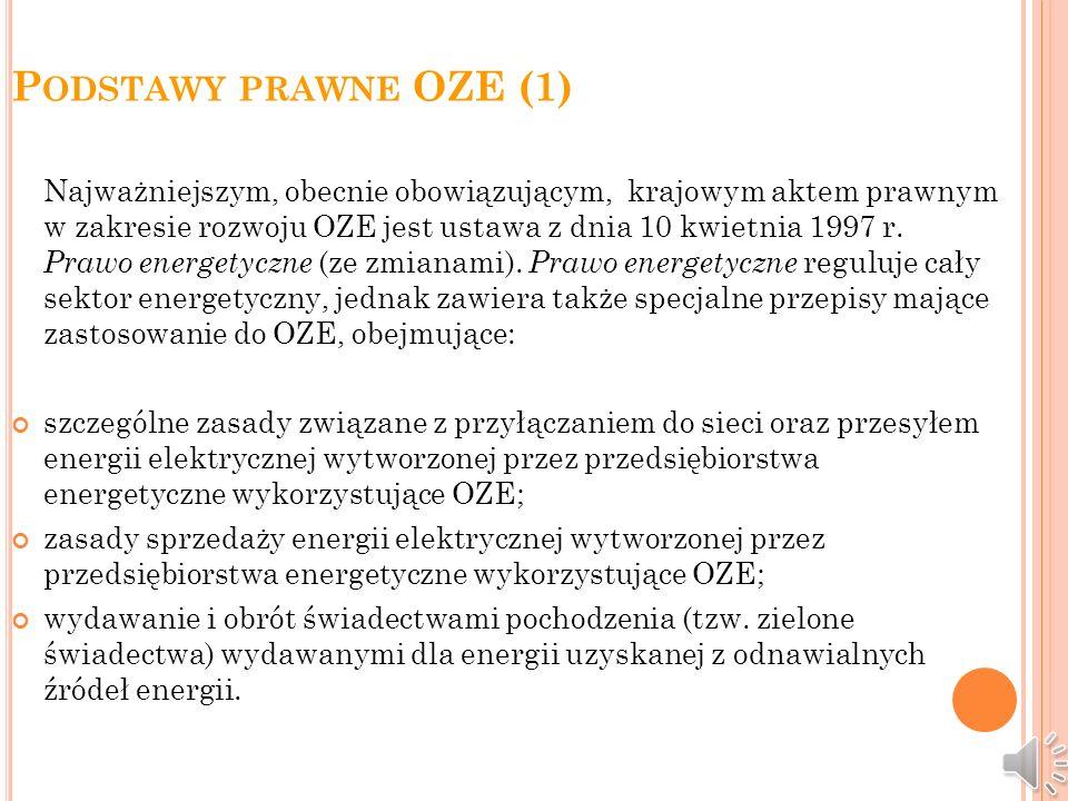 Podstawy prawne OZE (1)