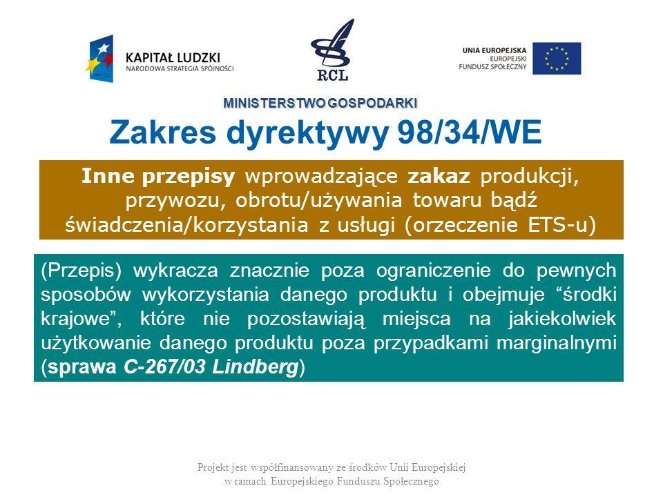 Zakres dyrektywy 98/34/WE