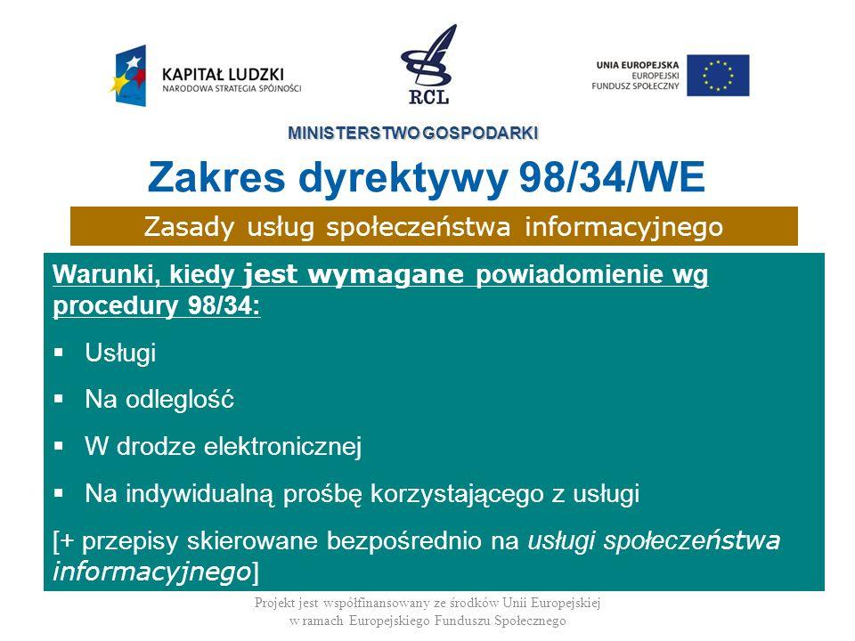 Zasady usług społeczeństwa informacyjnego