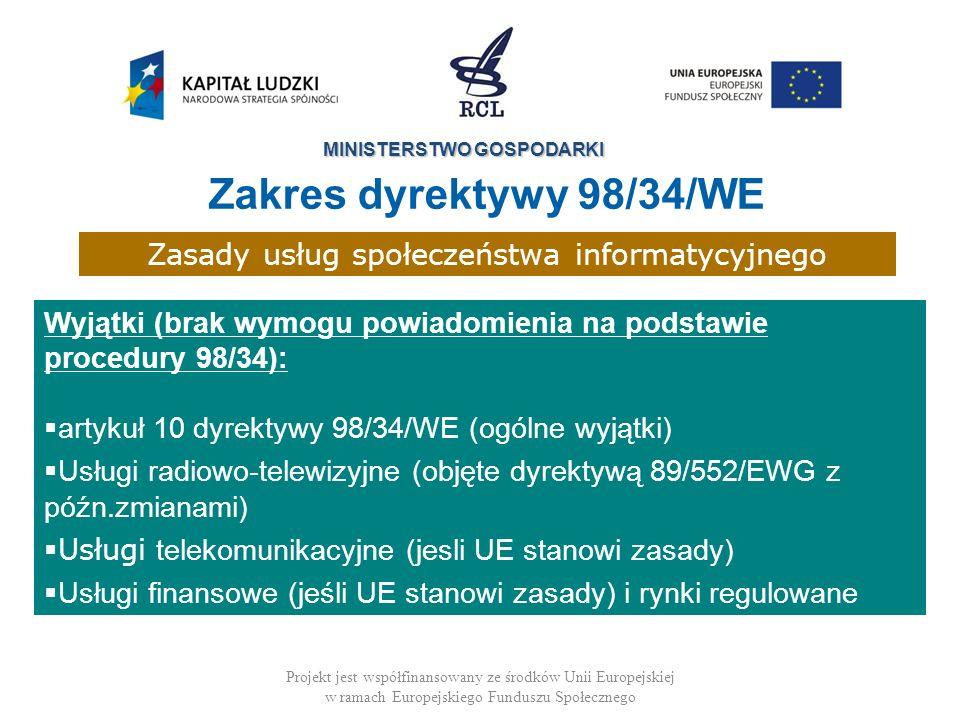 Zasady usług społeczeństwa informatycyjnego