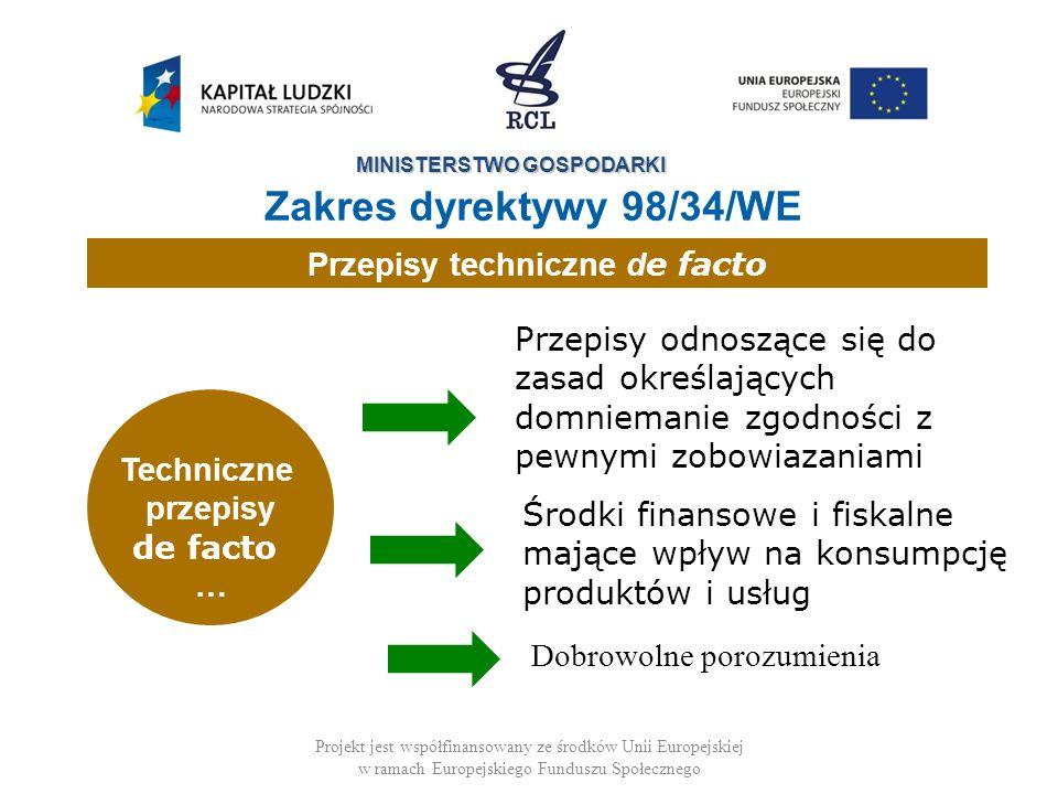 Przepisy techniczne de facto