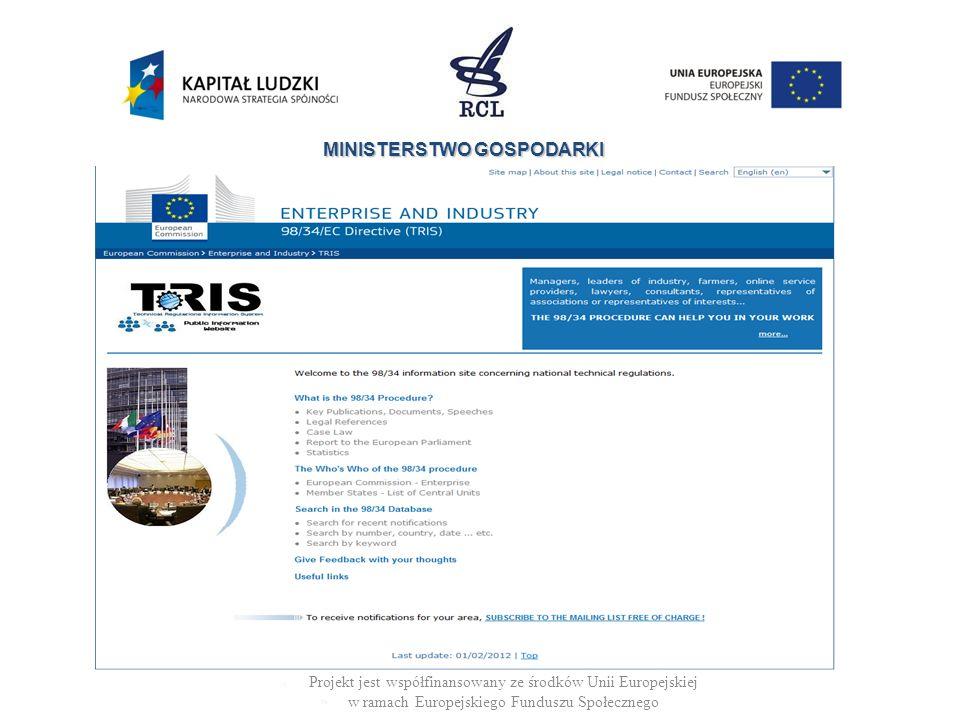 Projekt jest współfinansowany ze środków Unii Europejskiej w ramach Europejskiego Funduszu Społecznego