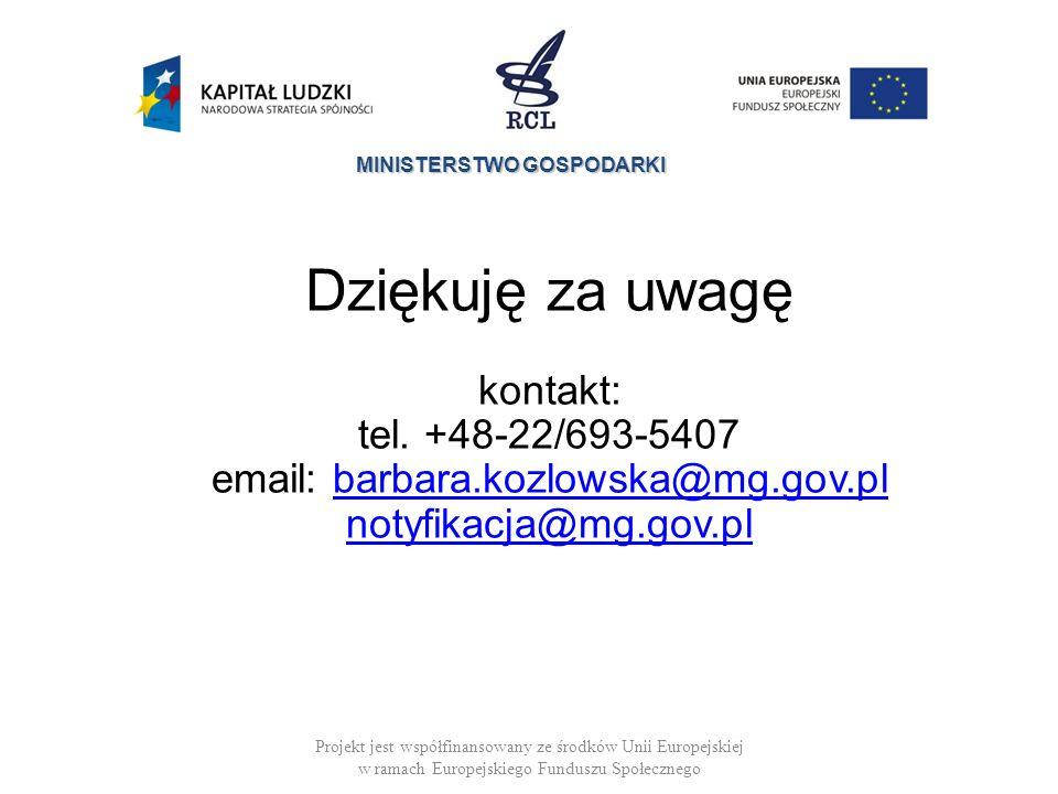 email: barbara.kozlowska@mg.gov.pl