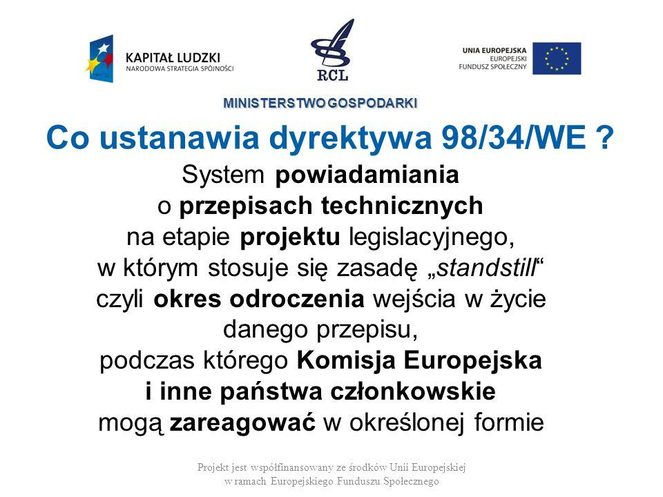 Co ustanawia dyrektywa 98/34/WE
