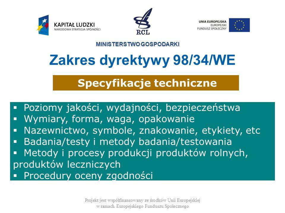 Specyfikacje techniczne