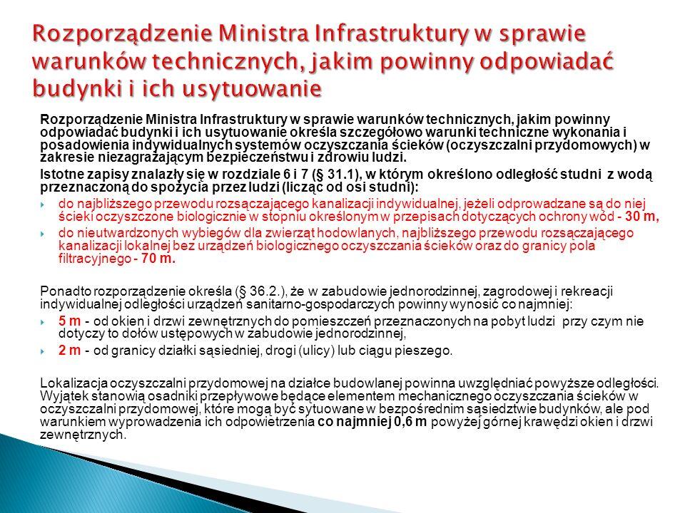 Rozporządzenie Ministra Infrastruktury w sprawie warunków technicznych, jakim powinny odpowiadać budynki i ich usytuowanie