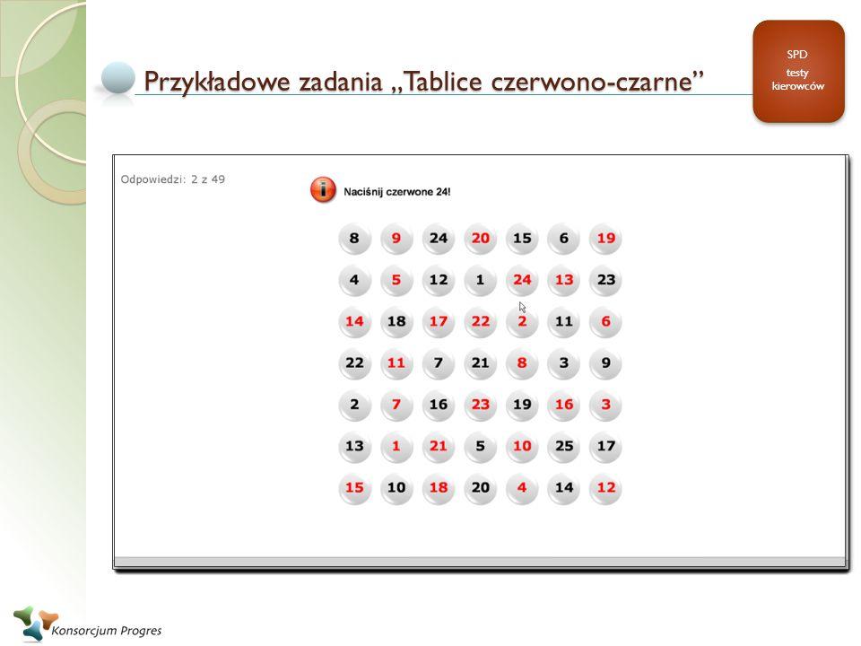 """Przykładowe zadania """"Tablice czerwono-czarne"""