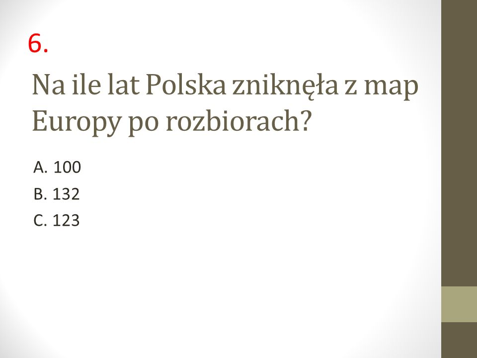Na ile lat Polska zniknęła z map Europy po rozbiorach