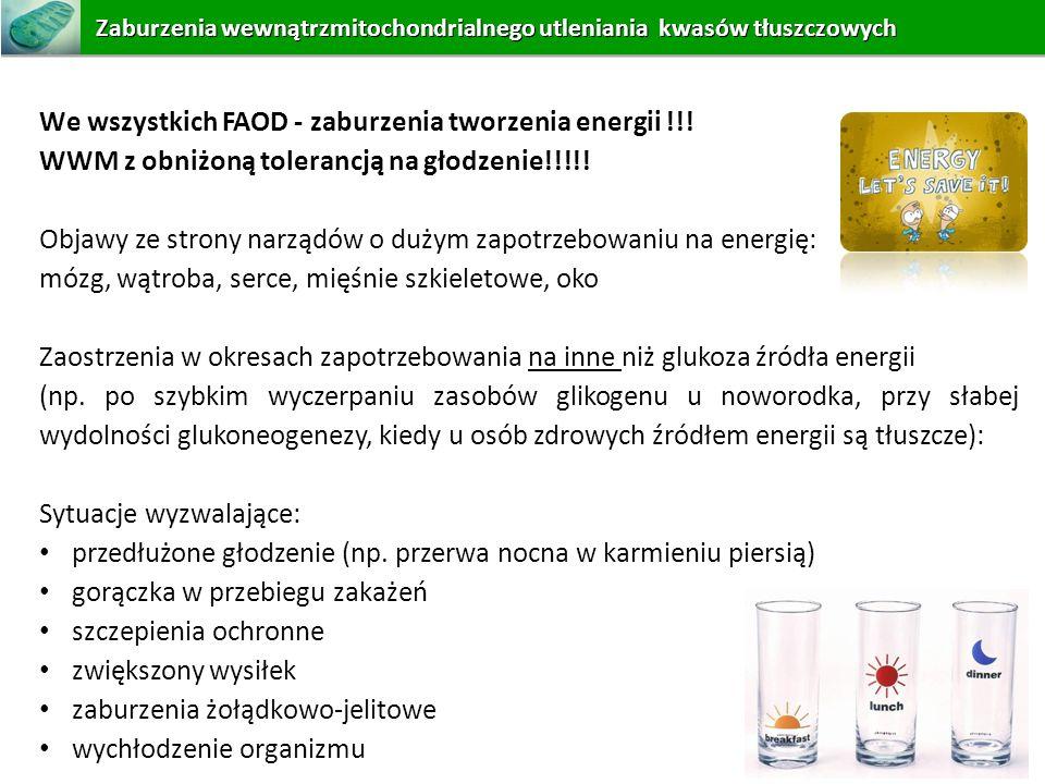 We wszystkich FAOD - zaburzenia tworzenia energii !!!