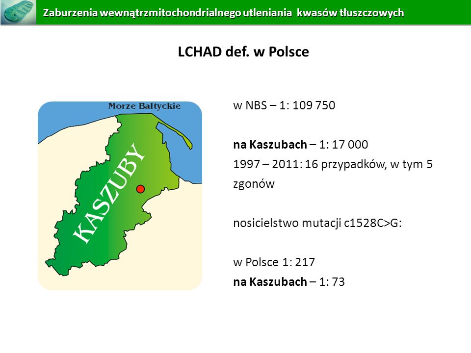 LCHAD def. w Polsce w NBS – 1: 109 750 na Kaszubach – 1: 17 000
