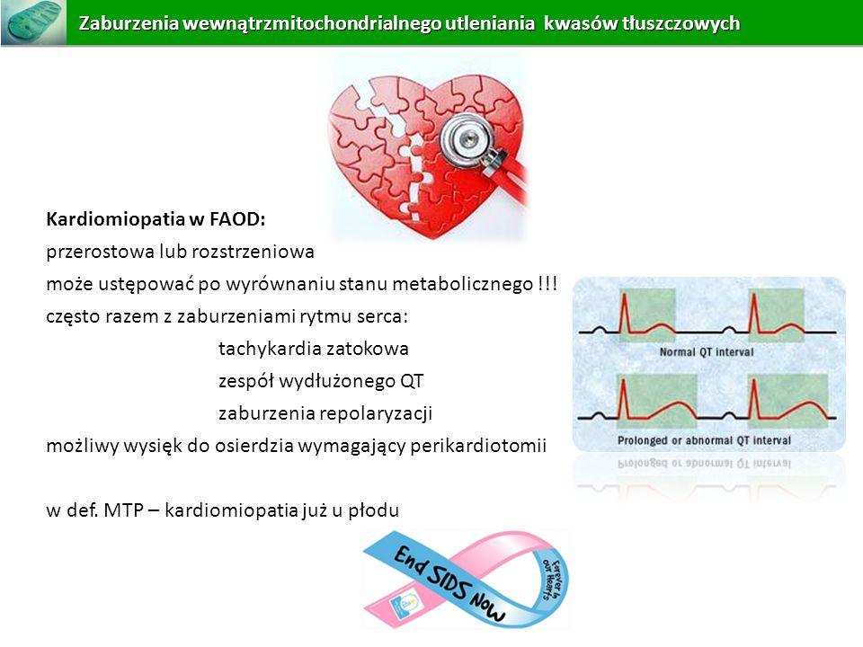 Zaburzenia wewnątrzmitochondrialnego utleniania kwasów tłuszczowych