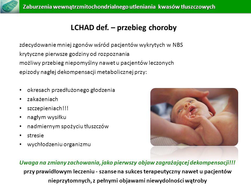 LCHAD def. – przebieg choroby