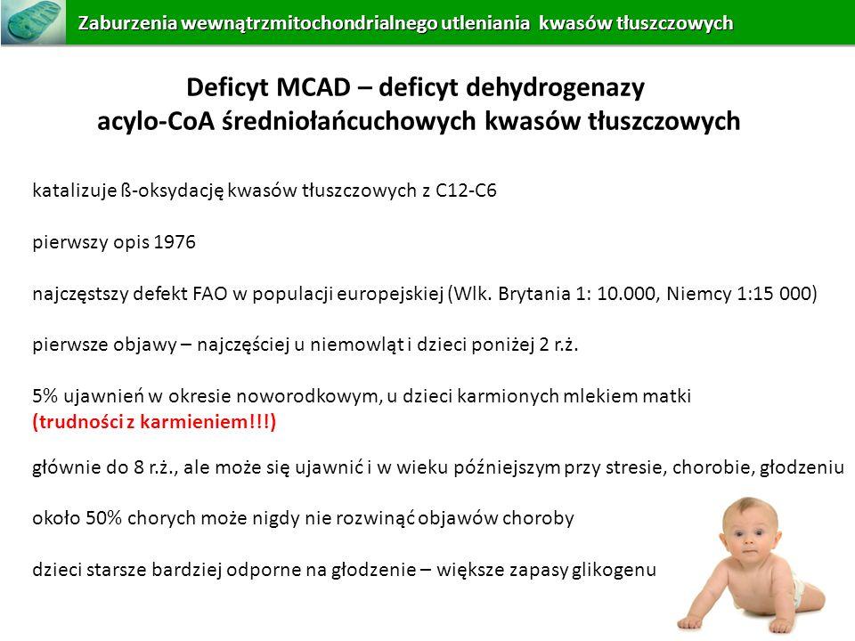 Deficyt MCAD – deficyt dehydrogenazy