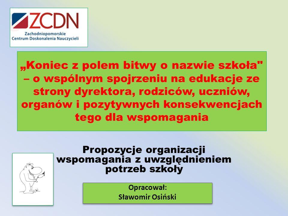 Propozycje organizacji wspomagania z uwzględnieniem potrzeb szkoły