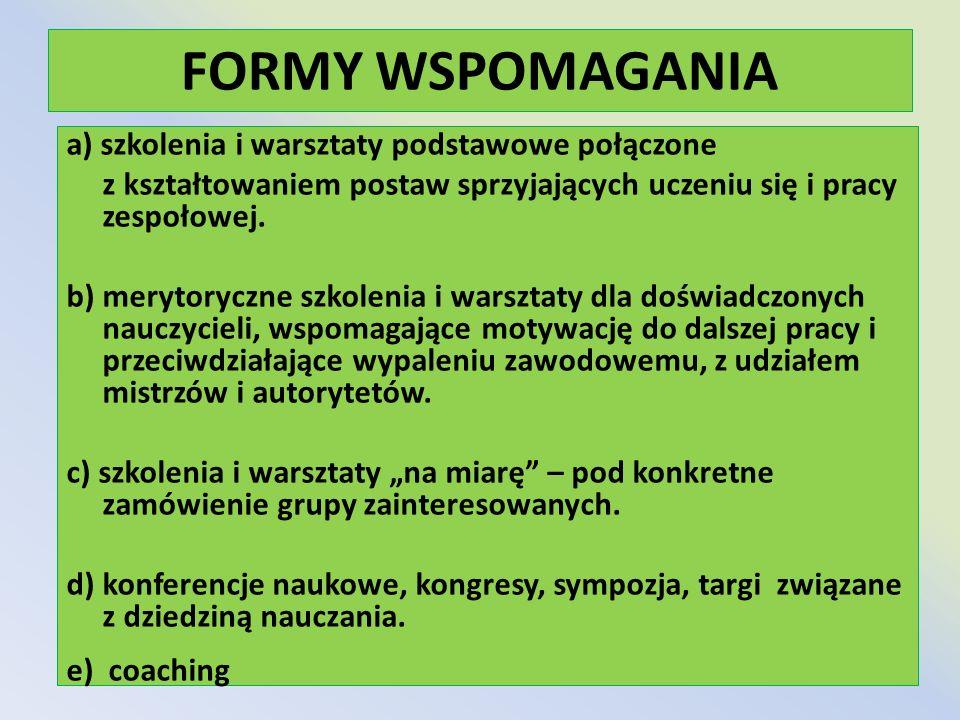 FORMY WSPOMAGANIA