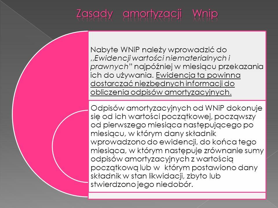 Zasady amortyzacji Wnip