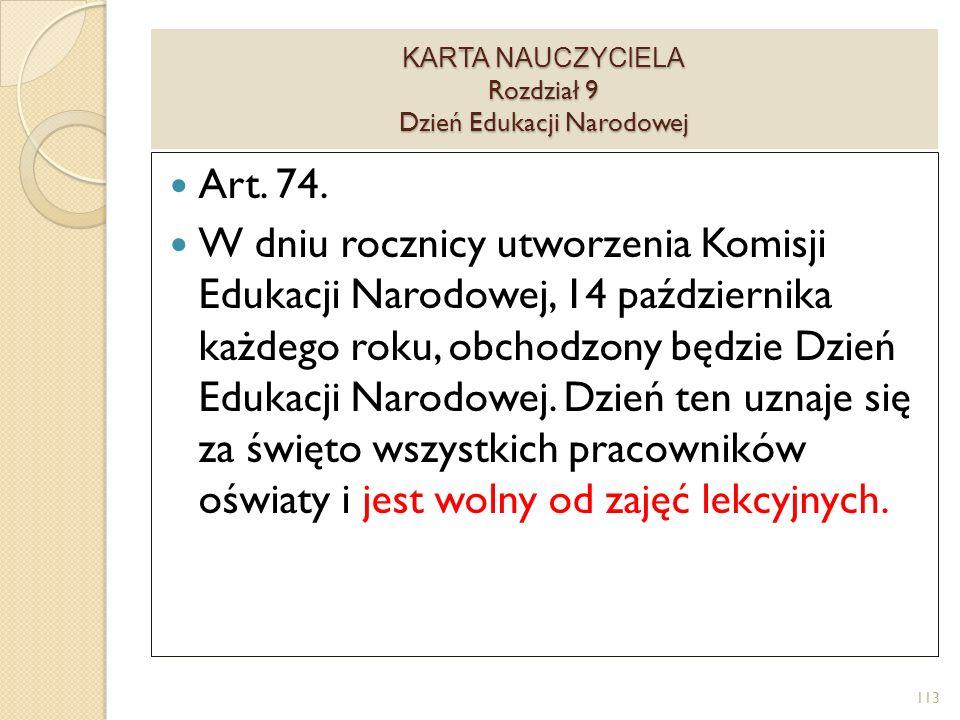 KARTA NAUCZYCIELA Rozdział 9 Dzień Edukacji Narodowej