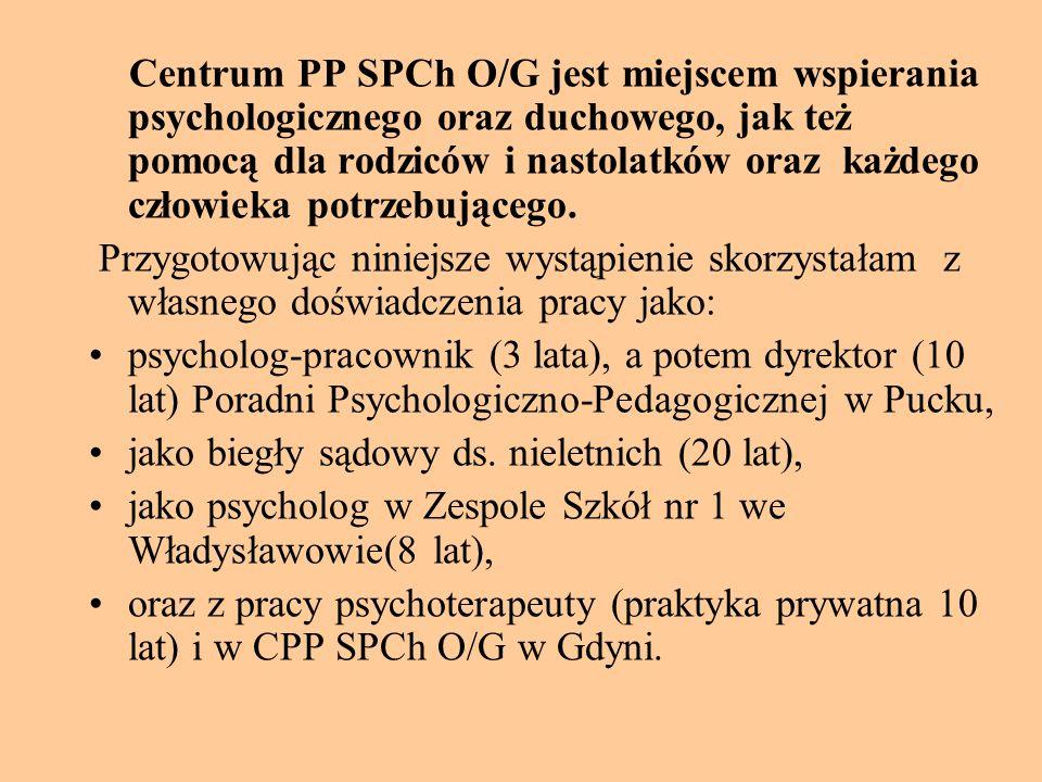 Centrum PP SPCh O/G jest miejscem wspierania psychologicznego oraz duchowego, jak też pomocą dla rodziców i nastolatków oraz każdego człowieka potrzebującego.